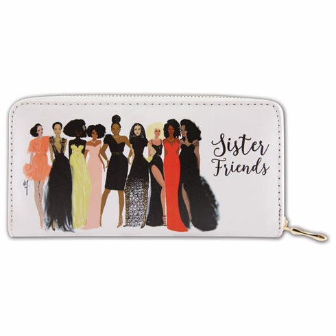 "African American Expressions - Sister Friends Wallet (4"" x 7.75"" x 1"" / 8 card slot) - WL04"