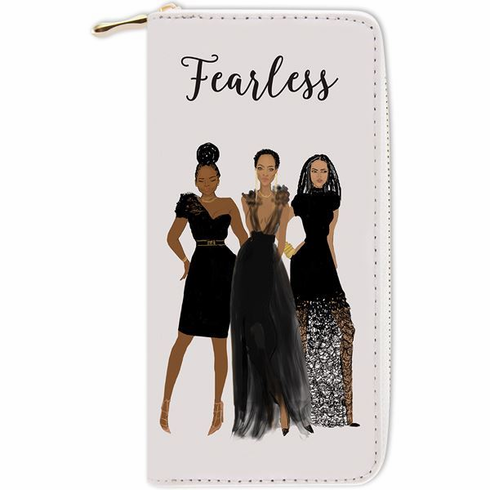 """African American Expressions - Fearless Wallet (4"""" x 7.75"""" x 1"""" / 8 card slot) - WL07"""