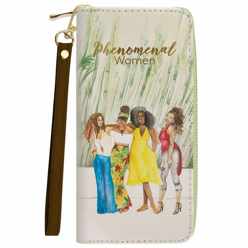 African American Expressions - Wallet with Strap, Phenomenal Women, 4 x 7.75 Inches, WL-15
