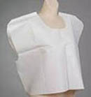 Tidi Products Tissue‑Poly‑Tissue White Patient Capes