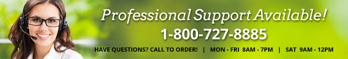 Professional Support Available! 1-800-727-8885