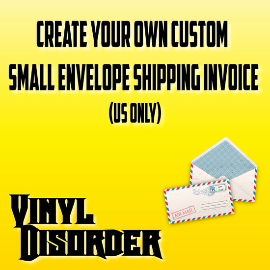 Custom Small Envelope Shipping Invoice (US Only)