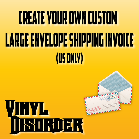 Custom Large Envelope Shipping Invoice (US Only)