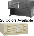 5 Drawer Safco Flat Files Drawer Size 37X26X2""