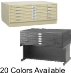 5 Drawer Safco Flat Files Drawer Size 43X32x2