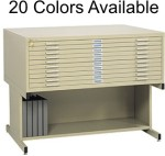 10 Drawer Safco Flat Files Drawer Size 43X32x2""