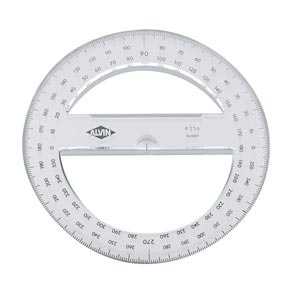 "4"" Full Circle 360° Protractor for School"