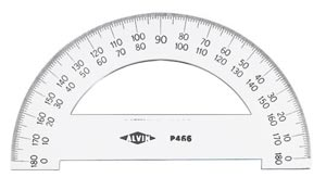 "8"" Semicircular Protractor for Math & Drafting"