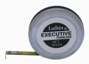 8ft. Lufkin Thin Line Pocket Tape W608 16th Graduated Inches Progressively Numbered