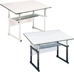 Workmaster Alvin Drafting Tables Sturdy Metal Base 40° Tilt