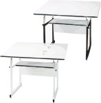 WorkMaster Jr. Alvin Drafting Tables Metal Base 35° Tilt