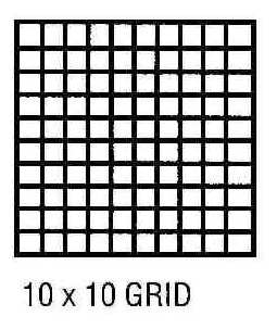 """10X10 Grid 22"""" x 34 3 Mil Double Matte Drafting Film 250 Sheets"""