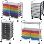 Mobile Rolling Storage Carts with Drawers