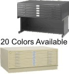 Safco Flat Files 5 & 10 Drawer Flat Files