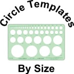 Circle Templates Sorted Size Small, Medium. Large & Metric