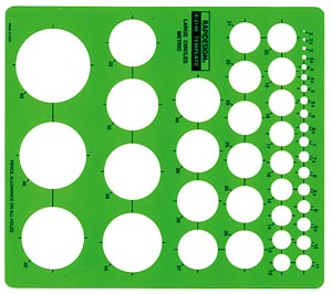 Metric Large Circle Template 44 Circles 2mm to 50mm Size