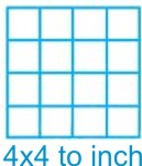 4x4 Grid 8.5x11 Pkg 500 1020 Clearprint Vellum Drafting Paper 20lbs