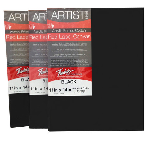 Fredrick's Artist Series Red Label Black Stretched Canvas