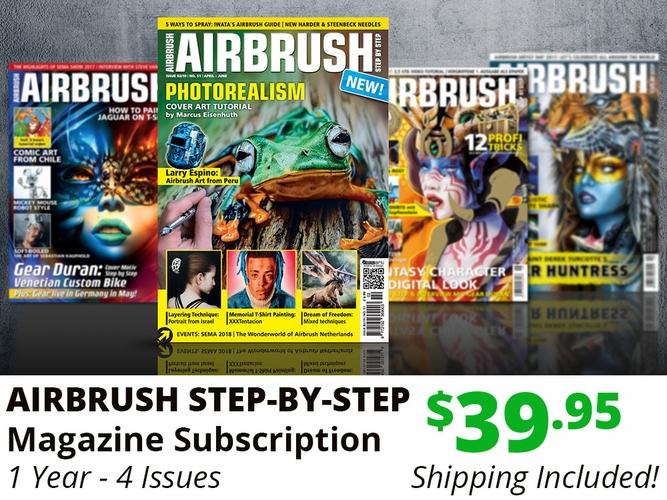 AIRBRUSH STEP-BY-STEP MAGAZINE - 1 YEAR SUBSCRIPTION
