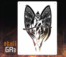 AEROSPACE Airbrush Stencil - GR3 'Wings of Death'