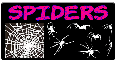 Spderweb And 3 Spiders Airbrush Stencil,Template