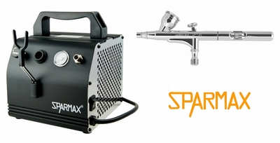 Sparmax SP-35F Airbrush with AC-27 Compressor and Hose