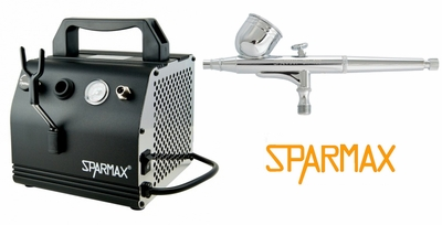 Sparmax DH-103 Airbrush with AC-27 Compressor and Hose