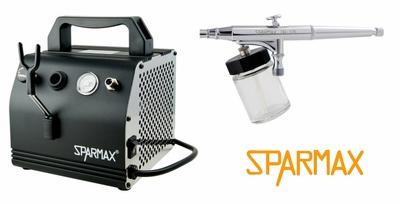 Sparmax DH-125 Airbrush with AC-27 Compressor and Hose