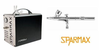 Sparmax SP-35F Airbrush with ARISM Compressor and Hose