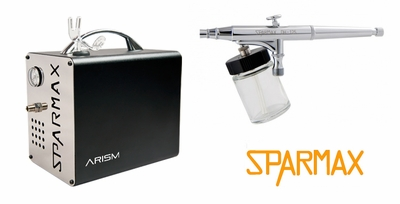 Sparmax DH-125 Airbrush with ARISM Compressor and Hose
