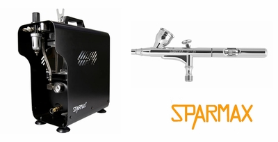 Sparmax SP-35F Airbrush with TC-620X Compressor and Hose