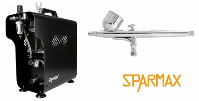 Sparmax DH-103 Airbrush with TC-620X Compressor and Hose