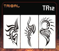 AEROSPACE Airbrush Stencils - Tribal and Tattoo Series - TR12