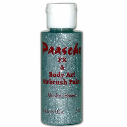 TI-114 Paasche Temporary Tattoo Paint - Silver Glitter
