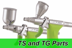 Grex Tritium TG and Tritium TS Airbrush Parts