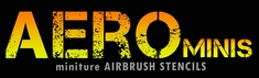 Aerospace Mini Airbrush Stencils
