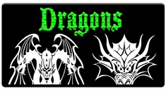 "AEROSPACE Airbrush Stencils-<BR><font color=""00CC00""> Dragon Series</font>"