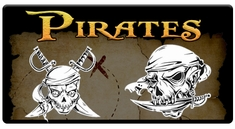 "AEROSPACE Airbrush Stencils -<BR><font color=""FFCC33"">Pirate Series</font>"