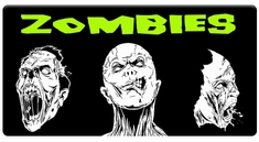 AEROSPACE Airbrush Stencils - Zombie Series