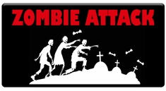 AEROSPACE Airbrush Stencils - Zombie Attack Series
