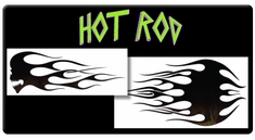 AEROSPACE Airbrush Stencils -<BR><font color=green> Hot Rod Series</font>