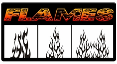 AEROSPACE Airbrush Stencils -<br><font color=FF9900>Flames</font>