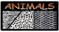 "AEROSPACE Airbrush Stencils - <br><font color=""FF6633"">Animal Patterns</font>"