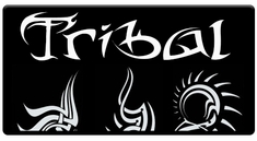 "AEROSPACE Airbrush Stencils - <BR><big><font color=""black"">Tribal Series</font></big>"