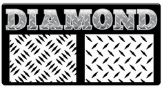 "AEROSPACE Airbrush Stencils - <BR><font color=""337799""> Diamond Plate FX Series</font>"
