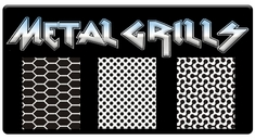 "AEROSPACE Airbrush Stencils - <BR><font color=""A8A8A8""> Metal Grill FX Series</font>"