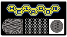 "AEROSPACE Airbrush Stencils - <font color=""FFCC00""> Honeycomb Series</font>"