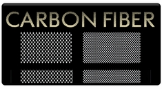 "AEROSPACE Airbrush Stencils - <font color=""CCCC00"">Carbon Fiber</font>"