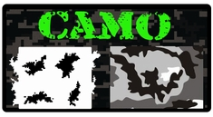AEROSPACE Airbrush Stencils - Camo Series