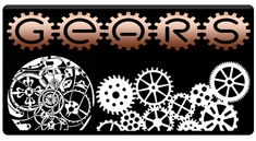 "AEROSPACE Airbrush Stencils -<BR><font color=""993300"">Gears Series</font>"